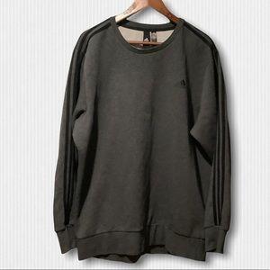 adidas Grey & Black Cotton Sweatshirt XL